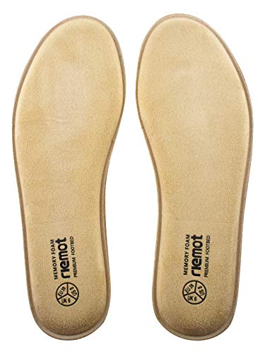 riemot Plantillas Memory Foam para Zapatos de Hombre y Mujer, Plantillas para Zapatillas Botas, Cómodas y Amortiguación para Trabajo, Deportes, Caminar, Senderismo M-Khaki-10