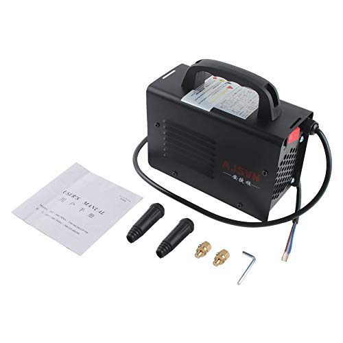 220V Ajustable de mano Inversor IGBT Soldadora de arco eléctrico Máquina de soldadura Pantalla digital Mini herramienta de soldadura portátil - Negro