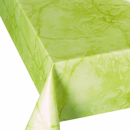 DecoHomeTextil Wachstuch Lack MARMOR Apfelgrün LFGB Breite & Länge wählbar abwaschbare Tischdecke Eckig 120 x 190 cm