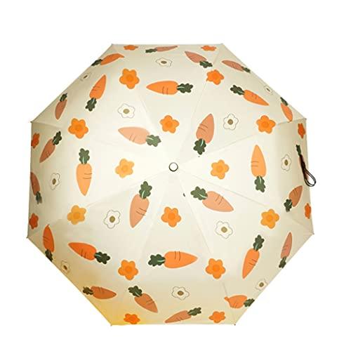FEANG Klappschirm Kompakter Reisenregenschirm for Automatik- oder Handbuch-Regenschirm-tragbarer, winddichter Regenschirm for Sonne und Regen Golfschirme (Größe : Manual)