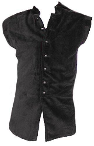 Dark Dreams Mittelalter LARP Wams Weste Jacke schwarz braun Edelmann M L XL XXL Evan, Farbe:schwarz, Größe:XL