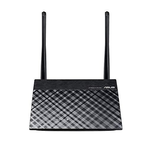Asus RT-N12E Ver.C Router (WiFi 4 N300 MIMO, 4x Fast-Ethernet LAN, App Steuerung, Energieeffizienz Version, 5dBi Antennen, VPN)