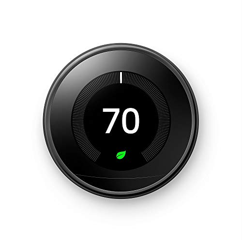Google Nest Learning Thermostat - Programmable Smart Thermostat for Home - 3rd Generation Nest Thermostat - Works with Alexa - [Mirror Black]