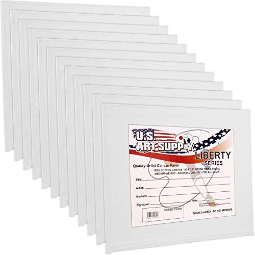 US Art Supply 6 X 6 inch Professional Artist Quality Acid Free Canvas Panel Boards 12-Pack (1 Full Case of 12 Single Canvas Panel Boards)
