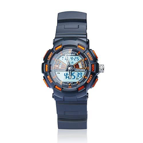 Popart Sport-Uhren für Jungen im Alter von 4–14 Jahren, LED, 50 m, wasserdicht, Digitale Sportuhr für Kinder, Geburtstagsgeschenke, Geschenk für 4–14 Jahre alte Jungen