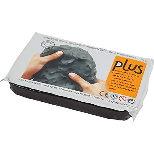 Sio2 Plus Ton, selbsthärtende Ton, 1 kg, Schwarz