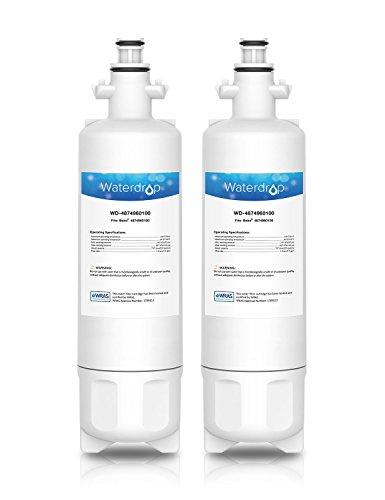 Waterdrop 4874960100 cartucho de filtro de agua para nevera/frigorífico - Beko 4874960100, 4394650100, 9256712, SBS4K, GNE; Blomberg IWD1004ET; Grundig 487960000, GSN; Lamona LAM6100, HJA6110 (2)