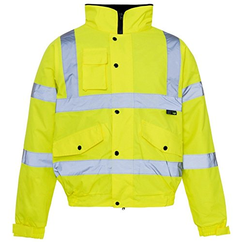 Men's Hi Vis Bomber Jackets Soft...