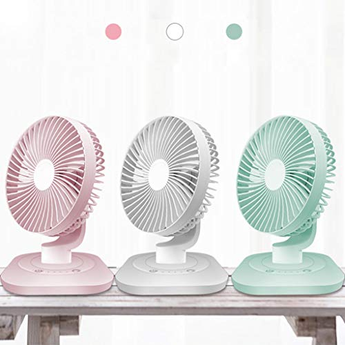 LSN Personal USB Table Fans - Portable Air Circulator Quiet 4 Speeds 120° Rotatable Fan for Desk