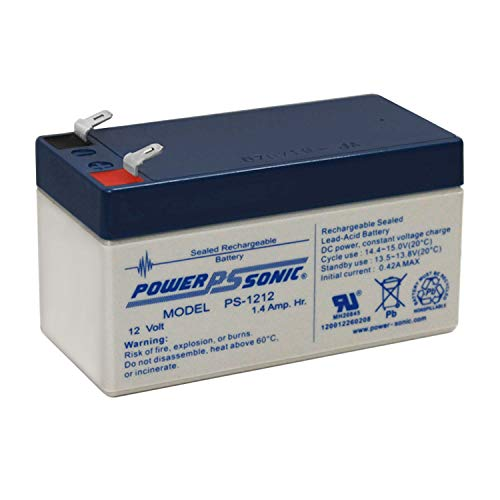 Power Sonic 12V 1.4Ah SLA Replacement Battery for Newmox FNC-1212