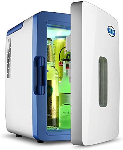 TANKKWEQ Mini refrigerador 12l Mute Reefer Caja de Enfriador Casa Dual Uso Mini Frío y cálido Incubadora de citación Apartamento Mini refrigerador