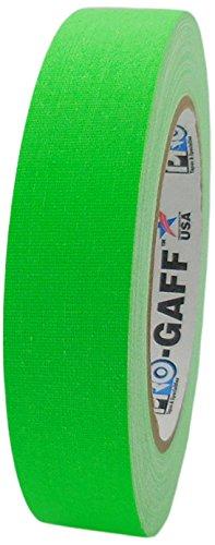 Pro-Gaff rs127gn24, 24 x 25 mm x 25 m lang-Tape Gewebe-Klebeband, fluoreszierend, Matt