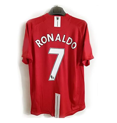 Retro 07-08 Saison Cristiano Ronaldo Trikot Champions League Premier League Langarm Kurzarm Fußball Anzug Anzug Nr. 7-L