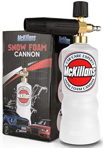"McKillans Foam Cannon Professional Grade Adjustable Lance Pressure Washer Jet Wash with 1/4"" Quick..."