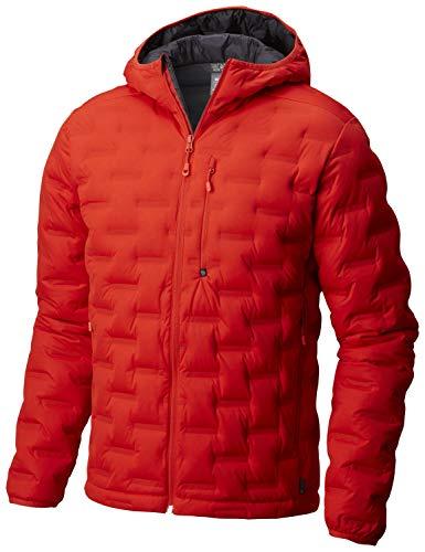 Mountain Hardwear StretchDown DS Hooded Jacket - Men's Fiery Red, M