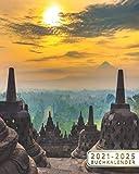 2021-2025 Buchkalender: 5 Jahre Monatsplaner und 60 Monate Monatskalender | Januar 2021 bis Dezember 2025, 1 Monate auf 2 Seiten | Candi Borobudur bei ... Yogyakarta, Java, Indonesien (German Edition)