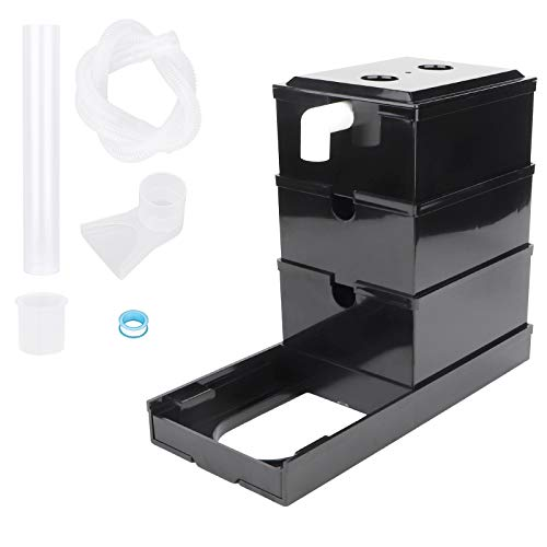 driew Fish Tank Upper Trickle Box, Aquarium Filter System External Filter Boxes 3 Layers