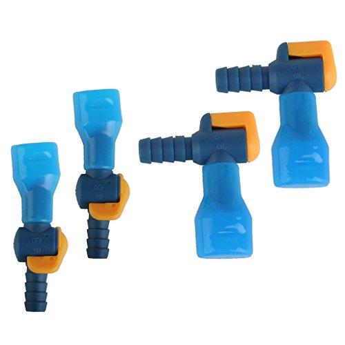 Sharplace 4 x Valve Conduite Poche D'hydration Sac D'eau Buse Tuyau Avec Soupape Commande