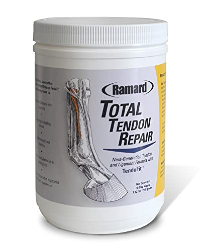 Ramard Total Tendon Repair Supplements for Horses - Tendon & Ligament Health Aid - Aids in Healing and Improving Strength and Elasticity for Horse Tendons and Ligaments (1.12 lb  30 Day Supplies)