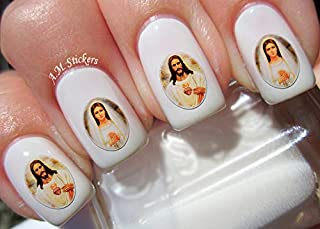 Jesus & Mary Water Nail Art Transfers Stickers Decals - Set of 30