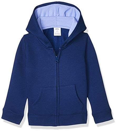 Amazon Essentials Mädchen fashion-hoodies Fleece Zip-up Hoodie, Blau (Dark Blue), Medium (Herstellergröße: 8 Jahre)