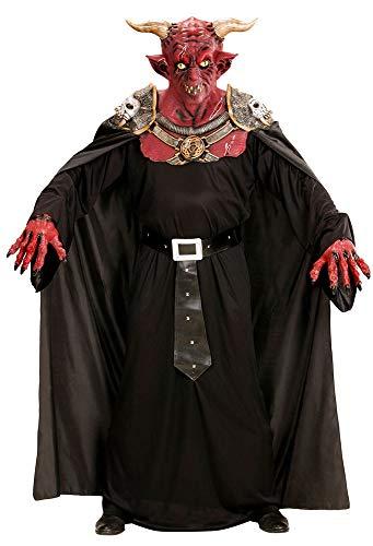 Zoelibat Authentisches Teufelskostüm mit Umhang und Maske mit Hörnern - Fürst der Finsternis Dämon Satan