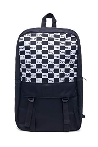 Supremes Unisex Rucksack Tasche Laptoptasche Tasche Backpack (Schwarz und weiß)