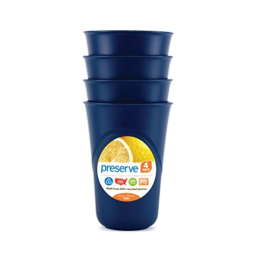 Preserve Everyday 16 Ounce Cups, Set of 4, Blue