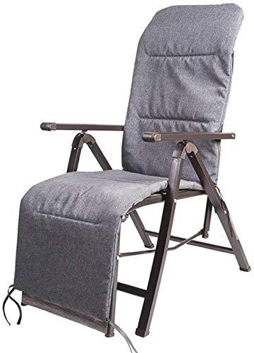 TUHFG Silla Tumbona Sillas reclinables Plegables Silla de jardín Playa Tumbona Sillón Sillas de reclinación a Prueba de Intemperie Textoline Taburete Plegable