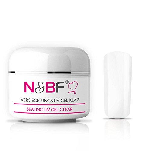 N&BF UV Versiegelungsgel klar | 30ml hochwertiges Profi Hochglanz Gel mittelviskos | Versieglergel für intensiven Glanz | Professionelles Abschluss Nagelgel mit Glanzfinish
