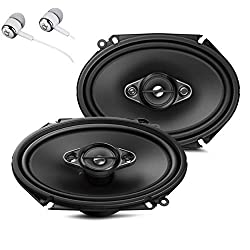Pioneer TS-A6880F 6 x 8 350 Watts Max Power A-Series 4-Way Car Audio Coaxial Speakers