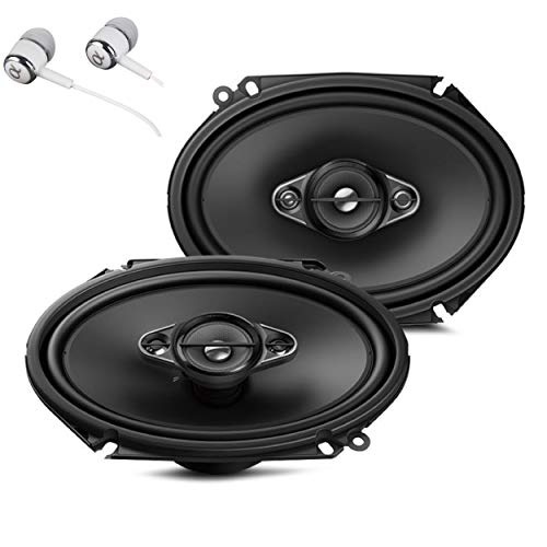 Pioneer TS-A6880F 6' x 8' 350 Watts Max Power A-Series 4-Way Car Audio Coaxial Speakers Pair with...