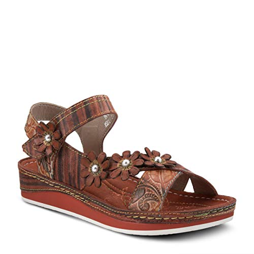 Spring Step L'Artiste Women's Mahvash Ankle Strap Sandal Orange Multi EU 40 / US 9