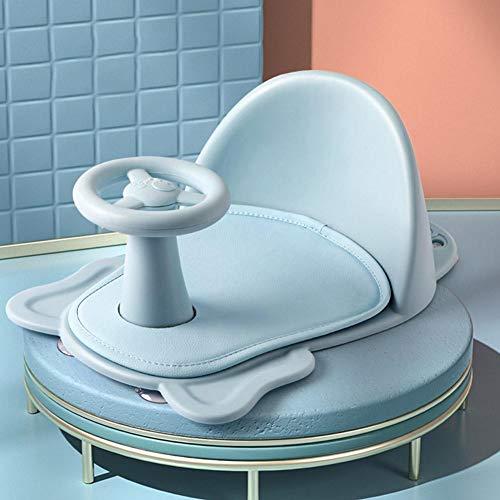 Chuanfeng Baby Badewannensitz, Baby Badesitz Mit Rückenlehne Stütze Klappbarer Badewannensitz Kindersicherung, 6-18 Monate, Bis Max. 15kg, 28,3 x 38,5 x 16,3 cm