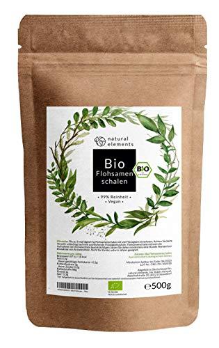 Bio Flohsamenschalen - Premium Qualität: Laborgeprüft, 99+% Reinheit, zertifiziert Bio. Vegan....