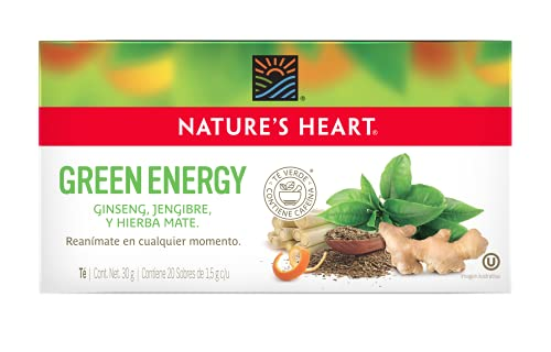 Nature's Heart Te Green Energy, Te verde, ginsen, 30 gramos