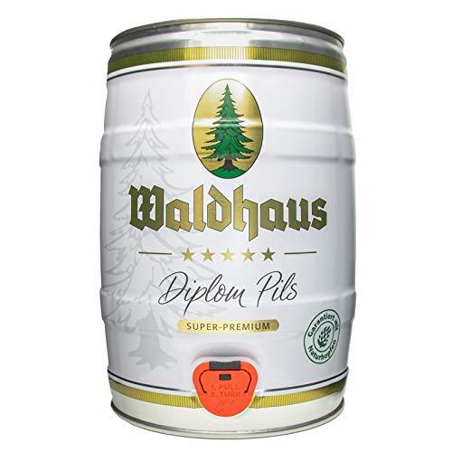 2 x Waldhaus diploma pils 5 litros 4,9% vol. barrilete