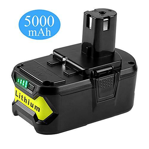 Forrat P108 5.0Ah 18V Replacement Battery for Ryobi 18V Lithium Battery P102 P103 P104 P105 P107 P109 P190 P191 P122 Ryobi 18-Volt ONE+ Plus Cordless Tool, 1Pack