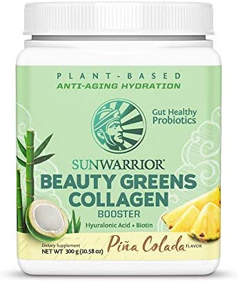 Sunwarrior Plant Based Beauty Greens Collagen Powder Organic and Vegan with Hyaluronic Acid product image