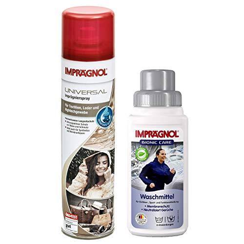 Imprägnol Spray 400ml + Imprägnol Bionic Care Waschmittel 250ml: Bündel für Sauberkeit, Nässe-Schutz und Wäscheschutz für jede Wetterlage