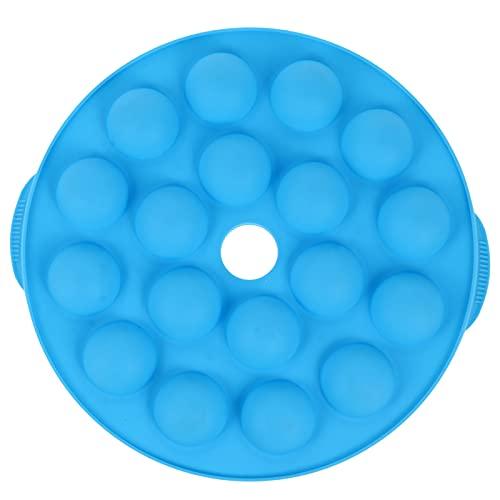 Cabilock Durable 1pc Novel 18 Holes Round Silicone Lollipop Cake Mould Cake Pop Maker (Blue)