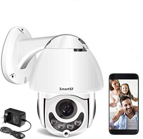 Dôme Caméra IP Extérieure WiFi sans Fil,360° HD 1080P...