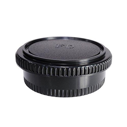 CamDesign Rear Lens Cap & Body Cap Set Compatible with Canon FD lens fit FL original FD & FD lenses w/ Canon F-1 FTb FTbn EF TLb F-1n,AE-1 AT-1 A-1 AV-1 New F-1,AE-1 Program,AL-1 T50 T70 T80 T90 T60