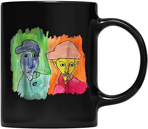 DKISEE The Two Brothers Abstracto Surrealismo Pintor T Taza de café para padre y madre, abuelo, abuela y amigo regalos 11 oz