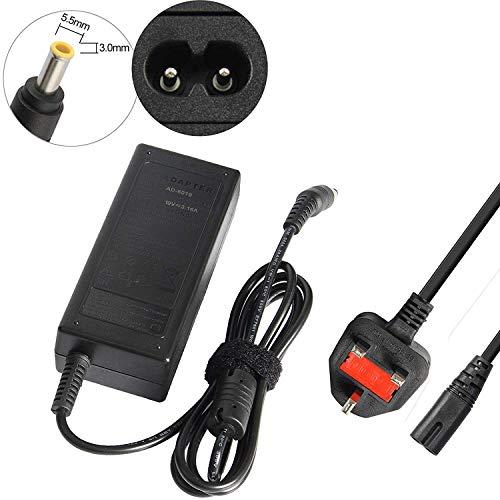 ARyee Adaptador de CA Cargador de fuente de alimentación Compatible con Samsung NP355V5C NP-RV511 NP370R5E NP700Z3A NP700Z3C-S02US RV510 NP300V NP370R5E-A04UK(19V 3.16A)