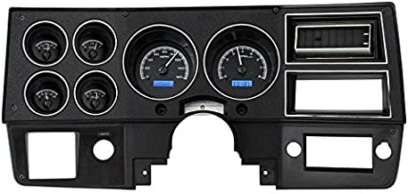 Dakota Digital 73 - 87 Chevy GMC Pickup Truck VHX Analog Dash Gauges Black Alloy Blue VHX-73C-PU-K-B