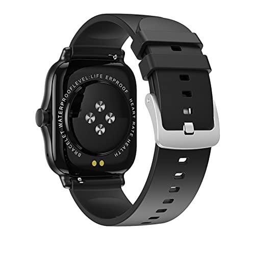 KaiLangDe Smartwatch Reloj Inteligente con Pulsómetro Cronómetros Calorías Monitor de Sueño Podómetro Monitores de Actividad Impermeable Reloj Deportivo para Pulsera (Color : Black)