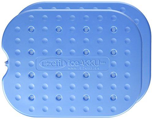EZetil Extra Flat 2er-Set Kühlakku G800, mit 2 x 770g Kühlelementen für die Kühltasche oder Kühlbox, zum kühlen von Speisen und Getränken türkis