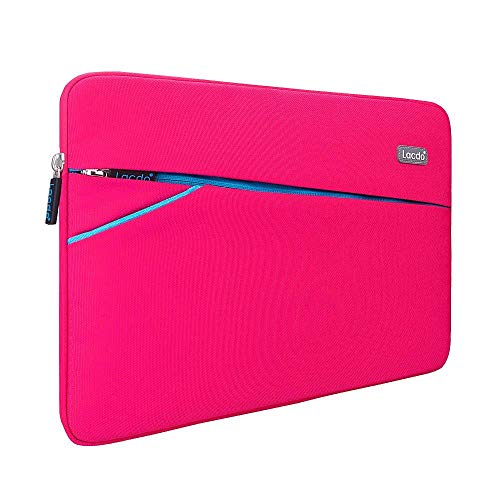 Lacdo 13.3' Laptop Sleeve Case Computer Bag for Older 13 Inch MacBook Air A1466 MacBook Pro / 13.5' Microsoft Surface Book 2 / Surface Laptop 3, 2 / Asus Zenbook, HP Dell Acer Lenovo ThinkPad, Pink