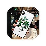 強化ガラス愛心パターン電話ケースfor iphone XR XS X XS最大7 8 6 6 sプラスクリア超薄型保護バックカバー,for iphone X,T5